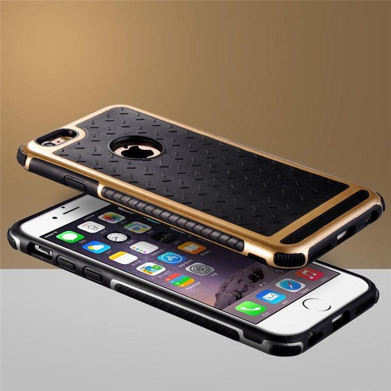 Фото 3 - Чехол для iPhone 5 5S/6/6S/ 6+/7  противоударный прорезиненный