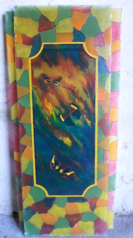 Фото 2 - Картины На Стекле (Витражи) Ручная Работа. 1997.