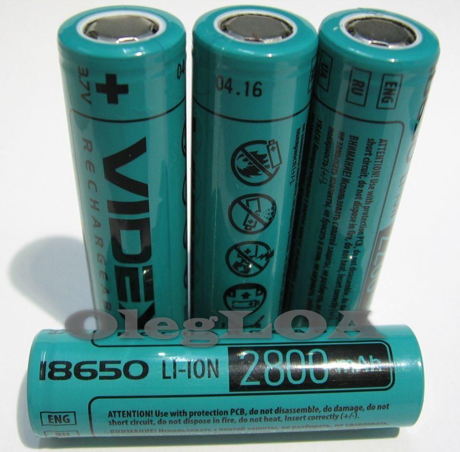 Фото - Аккумуляторы литиевые Li-ion 18650 Videx 2800mah реальная емкость!