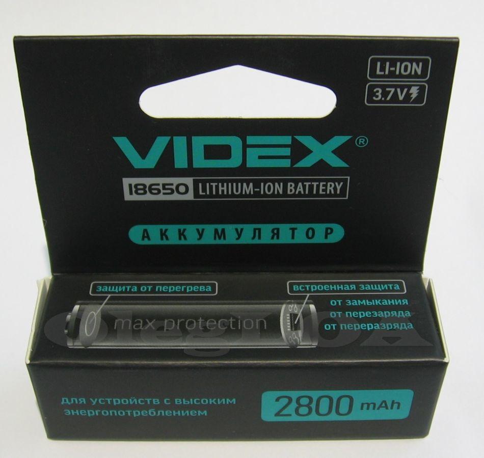 Фото - Аккумуляторы Li-ion 18650 Videx 2800mah (реальных) с защитой