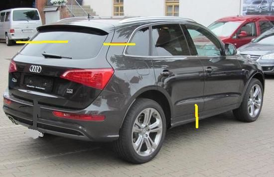 Фото - Audi Q5 Разборка Бампер Крышка багажника Фонарь Дверь Пороги Зеркало