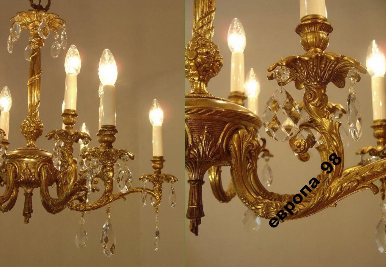 Фото 6 - Французская хрустальная люстра, на 12 ламп, 1965-й год