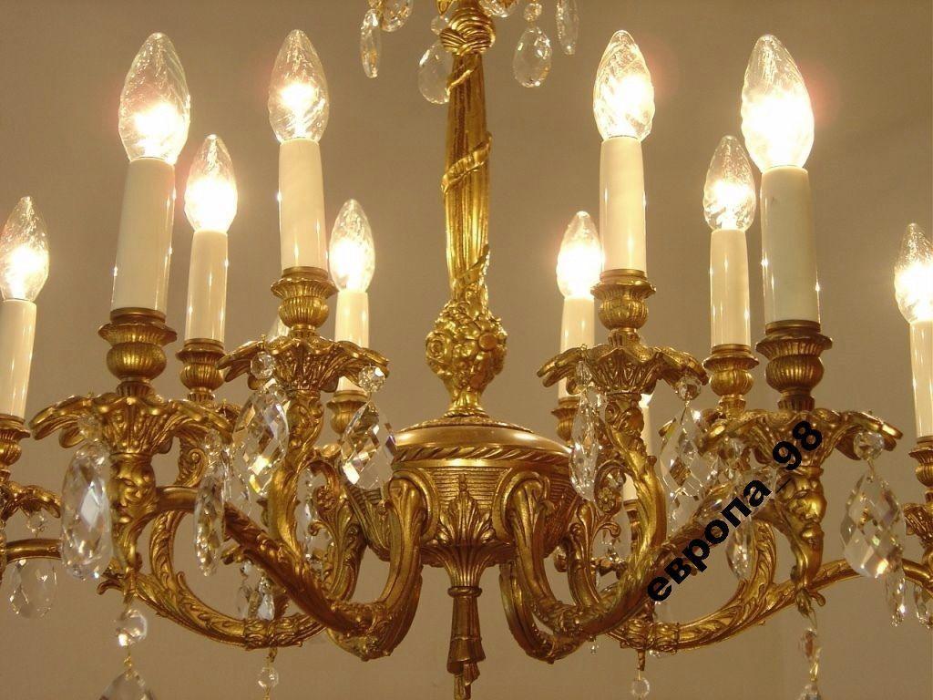 Фото 5 - Французская хрустальная люстра, на 12 ламп, 1965-й год
