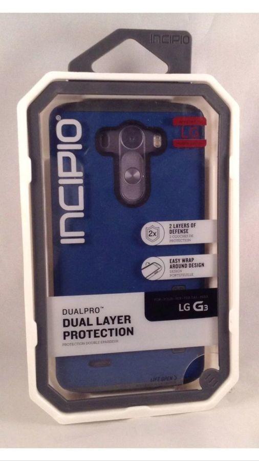 Фото 3 - Чехол двойная защита темноСИНИЙ Incipio DualPro LG G3