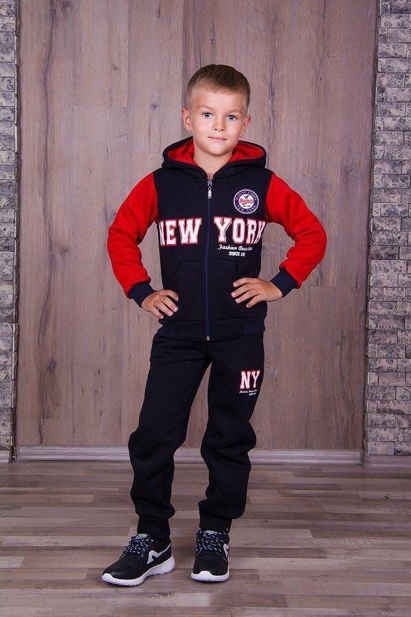 Фото 4 - Теплый с начесом спортивный костюм на мальчика, есть все размеры!