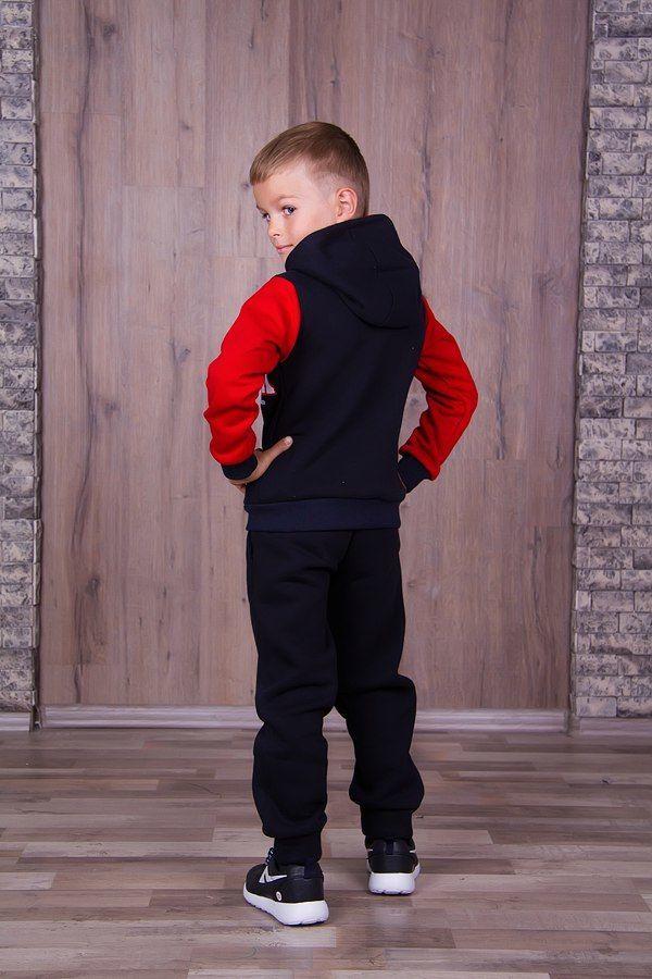 Фото 5 - Теплый с начесом спортивный костюм на мальчика, есть все размеры!