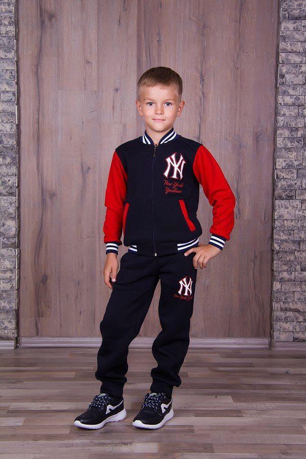 Фото 7 - Теплый с начесом спортивный костюм на мальчика, есть все размеры!