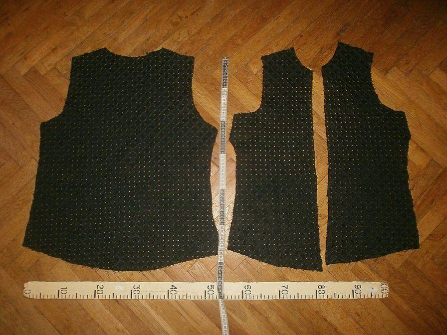 Фото 2 - Ткань хлопок прошва чёрная с рисунком.For Hand Made