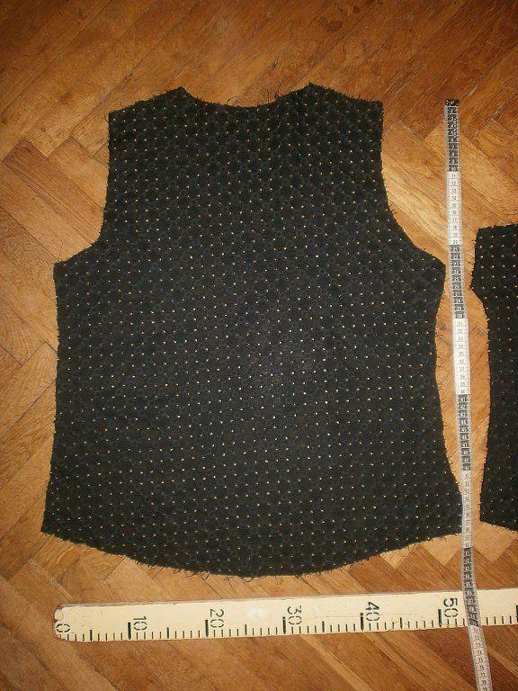 Фото 4 - Ткань хлопок прошва чёрная с рисунком.For Hand Made