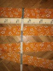 Фото 3 - Ткань батист хлопок апельсиновый с белым, For Hand Made