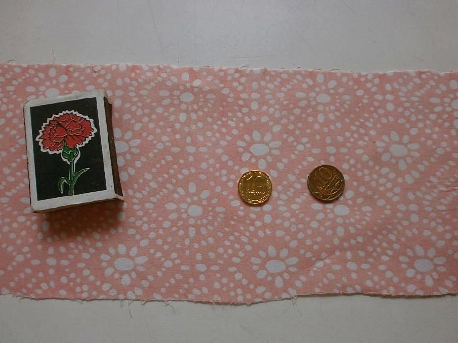Фото 5 - Ткань хлопок батист светло-розовый с белыми ромбами. For Hand Made