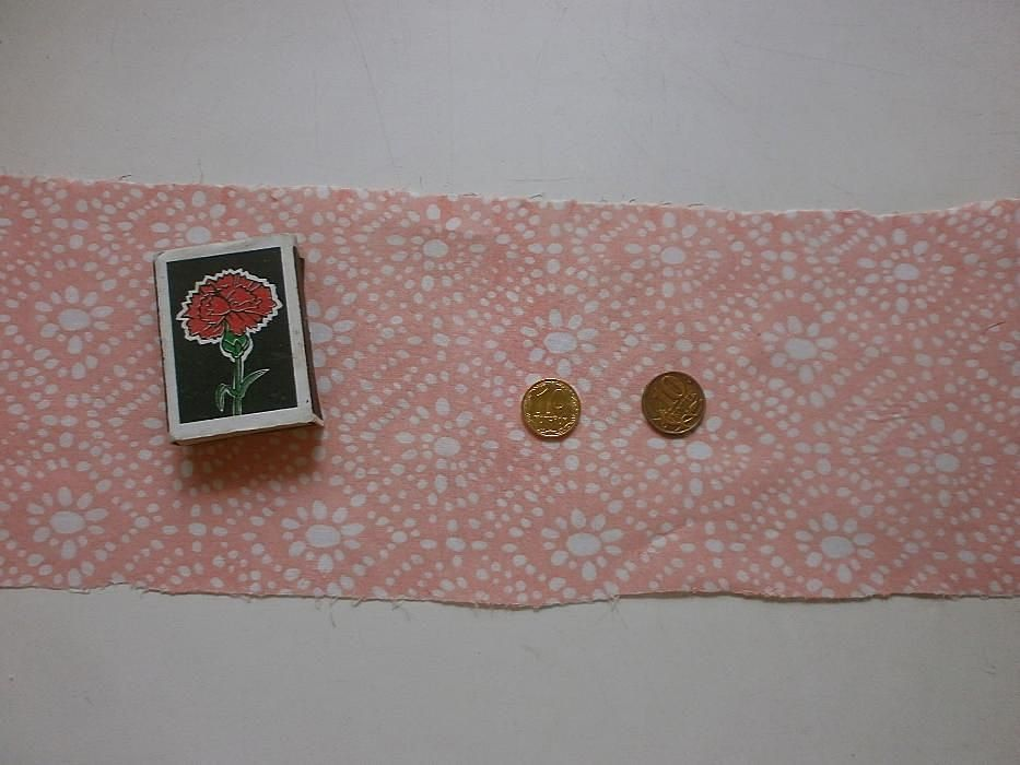 Фото 4 - Ткань хлопок батист светло-розовый с белыми ромбами. For Hand Made