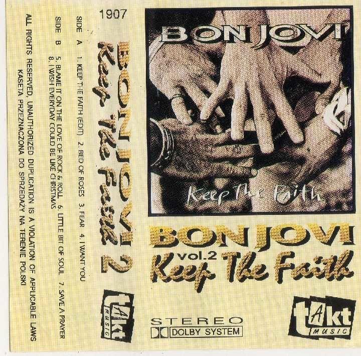 Фото 2 - Bon Jovi (Keep The Faith) 1992. AU. Poland. 2 Кассеты.