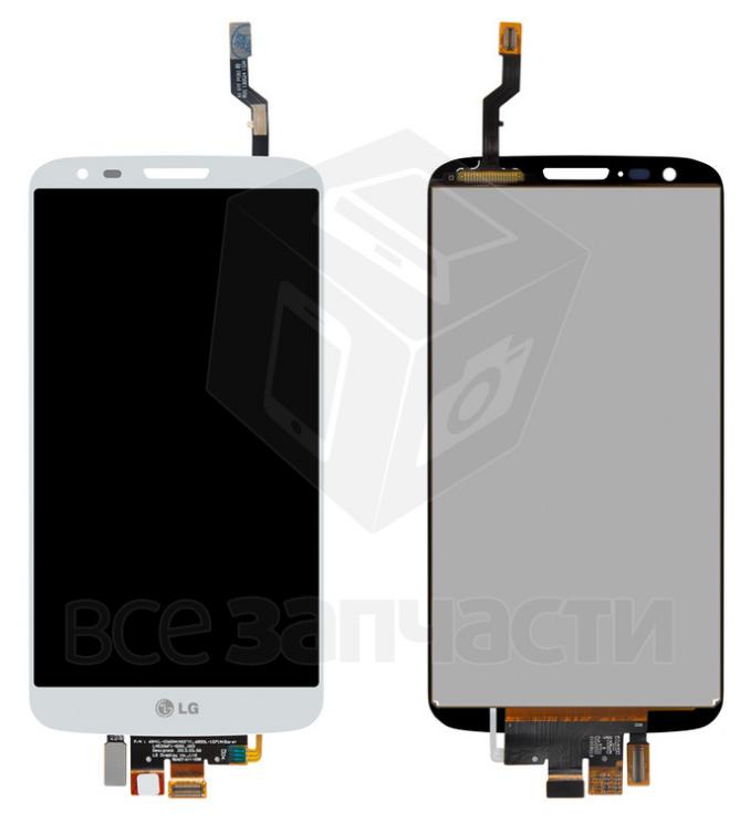 Фото - Дисплей телефона LG G2 D802, G2 D805, белый, с сенсорным экраном
