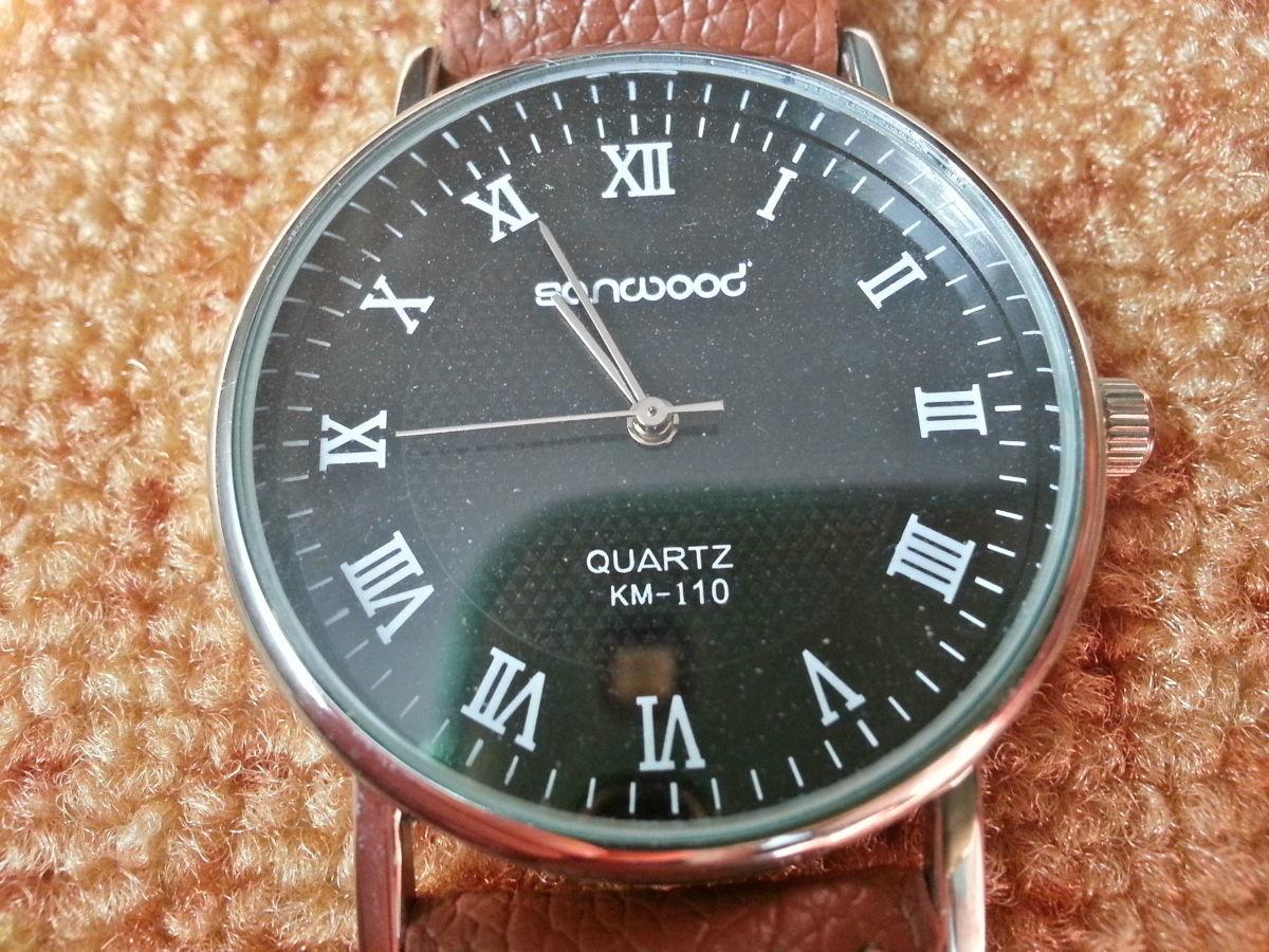 Фото 3 - Стильные кварцевые мужские часы. Sanwood Quartz KM-i10