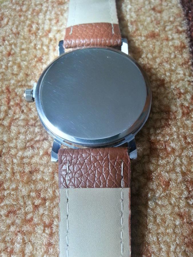 Фото 5 - Стильные кварцевые мужские часы. Sanwood Quartz KM-i10
