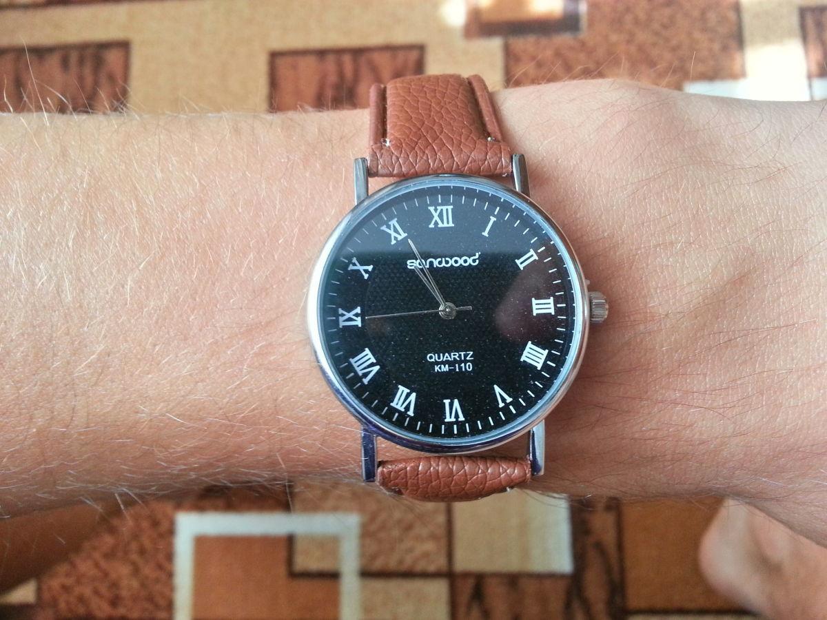 Фото 2 - Стильные кварцевые мужские часы. Sanwood Quartz KM-i10