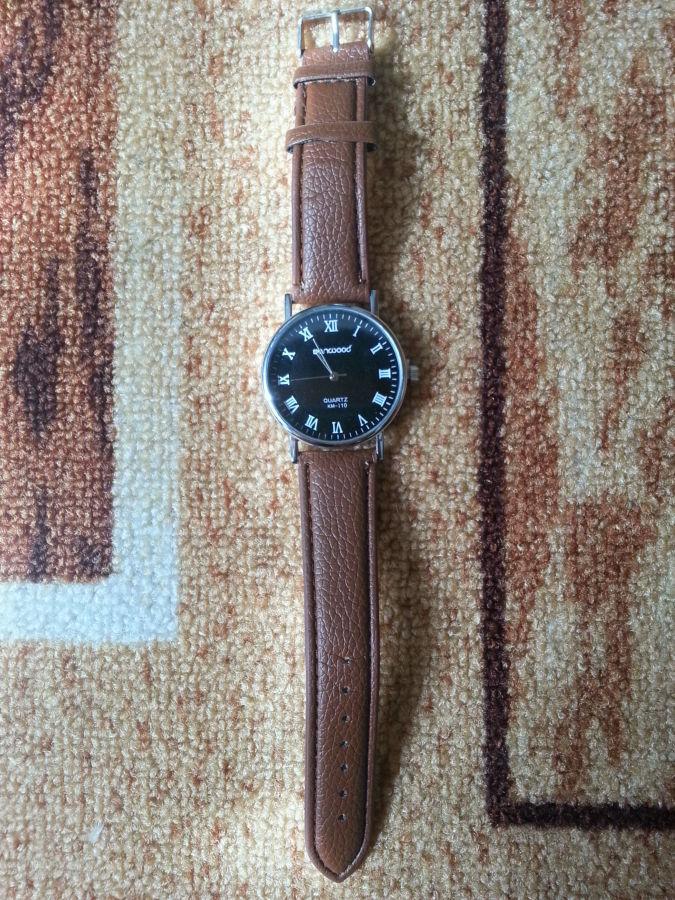 Фото 4 - Стильные кварцевые мужские часы. Sanwood Quartz KM-i10