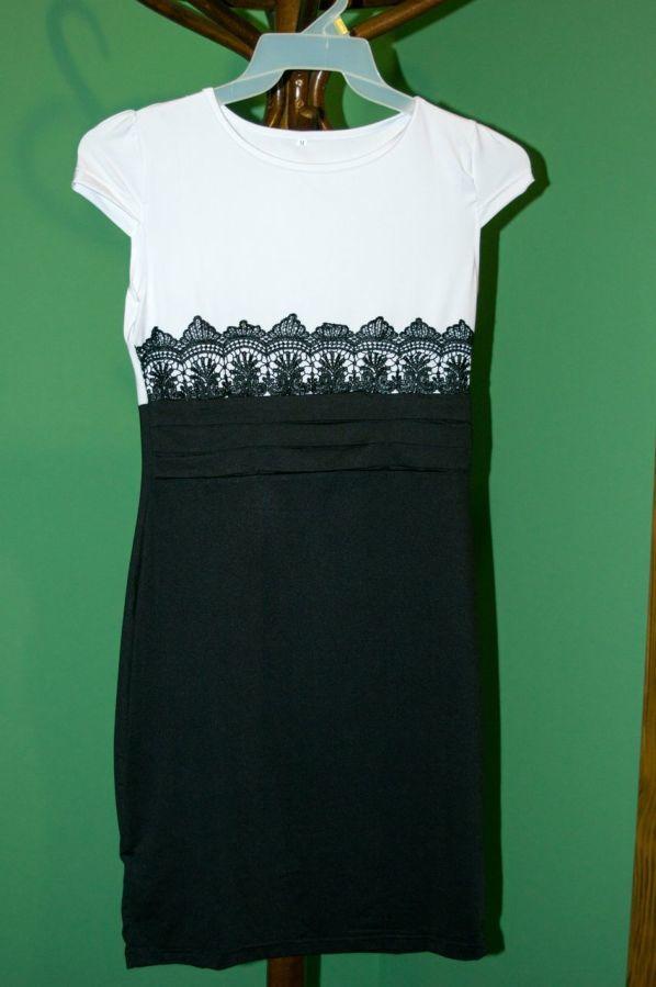 Фото - Платье чёрно-белое.