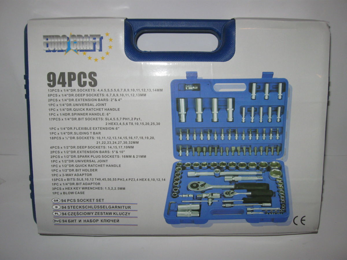 Фото 5 - Професcиональный набор инструмента 94 в 1 Euro Craft