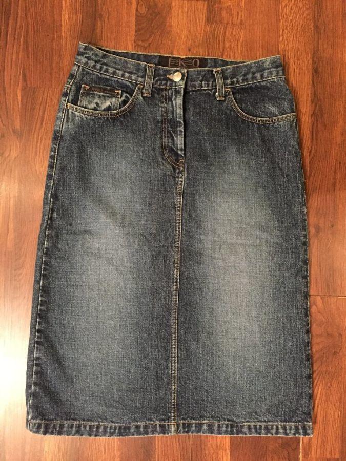 Фото 2 - Джинсовая юбка размер 28