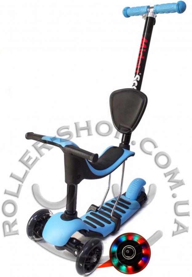 Фото 7 - Самокат беговел Scooter, Midou 4in1, со спинкой, c родительской ручкой