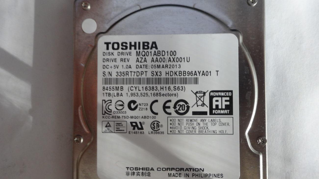 Фото 3 - HDD 2.5 Tohiba  SATA 1 Tb идеал