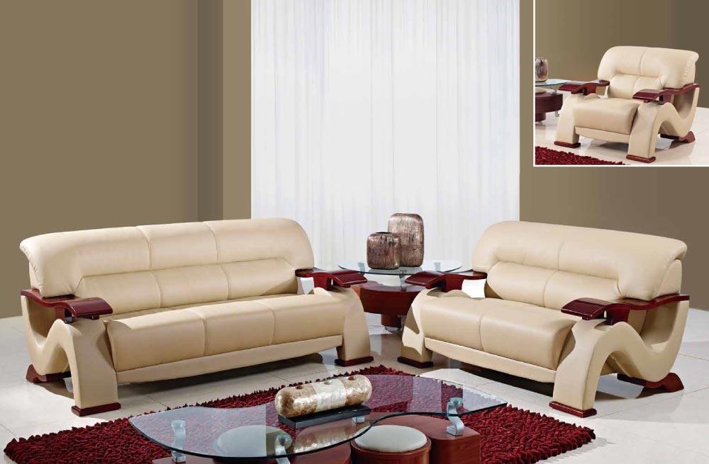 Фото 6 - стильный мягкий  комплект диван3+диван2+кресло,кожаная мебель