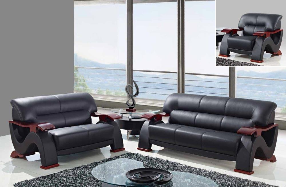 Фото 7 - стильный мягкий  комплект диван3+диван2+кресло,кожаная мебель