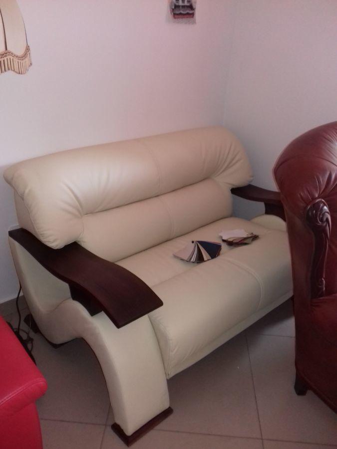 Фото 4 - стильный мягкий  комплект диван3+диван2+кресло,кожаная мебель
