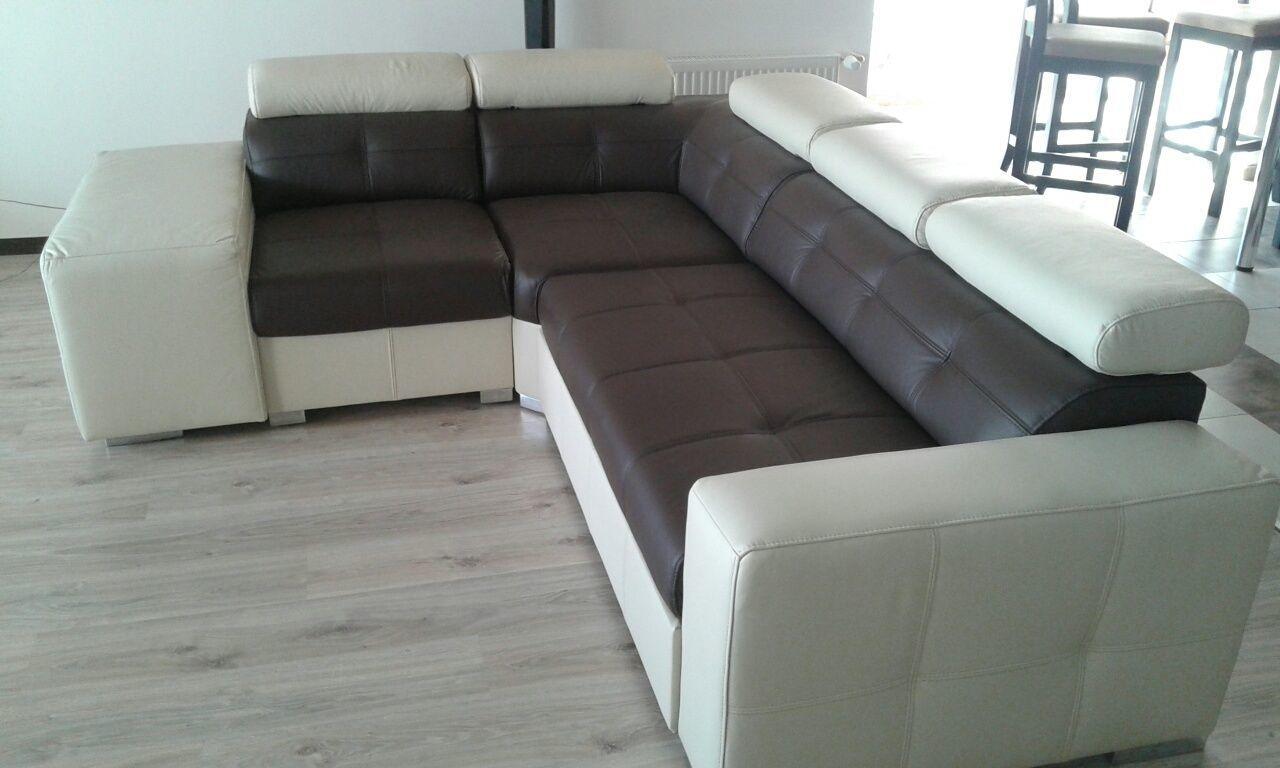 Фото 2 - кожаный угловой диван, кожаный уголок  хай тек,стильный уголок