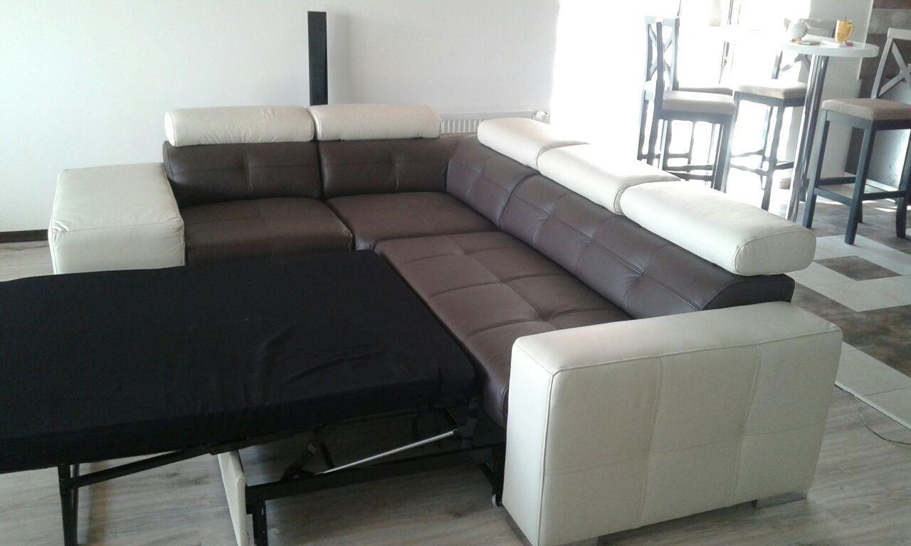 Фото 3 - кожаный угловой диван, кожаный уголок  хай тек,стильный уголок