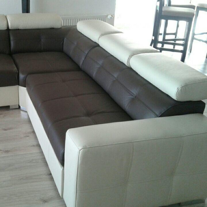 Фото - кожаный угловой диван, кожаный уголок  хай тек,стильный уголок