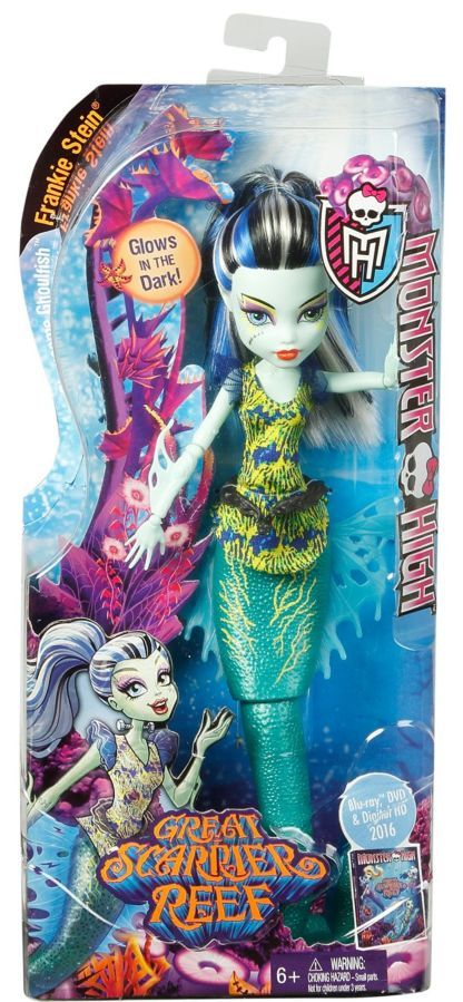 Фото 7 - Monster high great scarrier reef Ghoulfish Frankie Stein