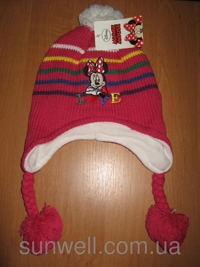 Фото - Детская шапка осень-зима Минни маус р. 52, 54, подкладка флис