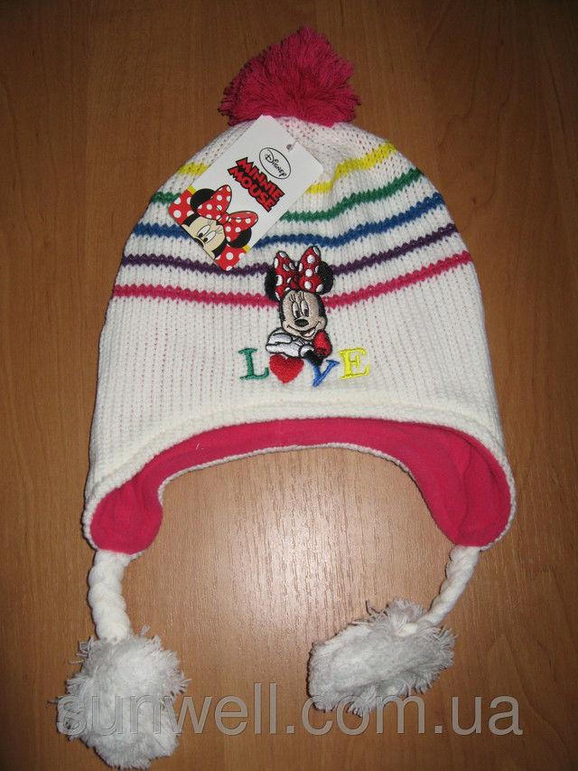 Фото 4 - Детская шапка осень-зима Минни маус р. 52, 54, подкладка флис