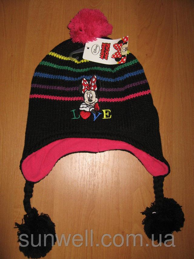 Фото 5 - Детская шапка осень-зима Минни маус р. 52, 54, подкладка флис