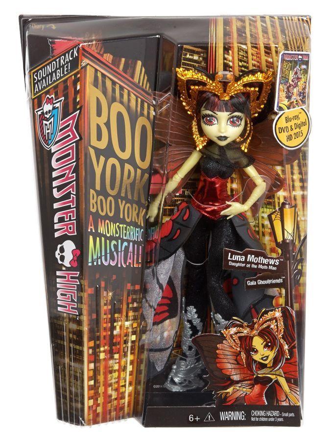 Фото 6 - Monster High Boo York, gala ghoulfriends Luna Mothews