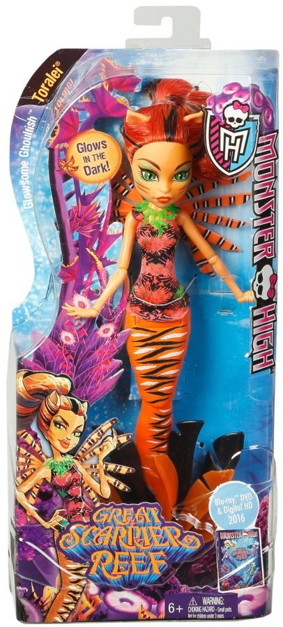 Фото 7 - Monster high great scarrier reef glowsome ghoulfish Toralei