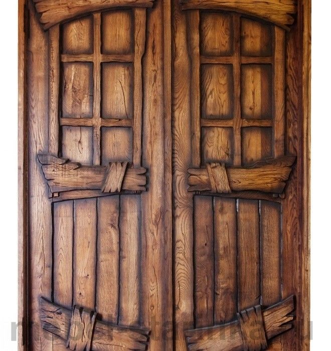 Фото - Деревянные двери с элементами старины (под заказ)