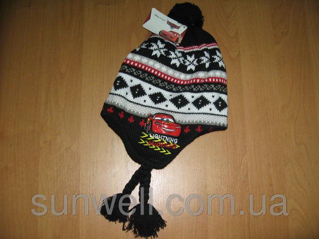 Фото 2 - Детская шапка осень-зима Тачки Sun City р.52, 54, подкладка флис