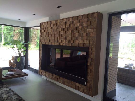 Фото 5 - Деревянная 3-D мозаика, декорирование стен деревом.