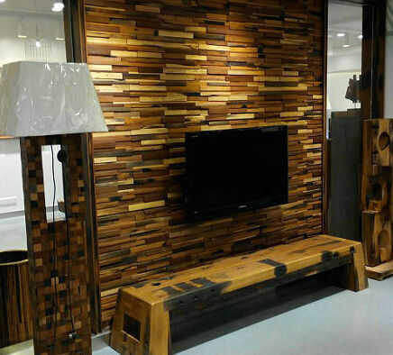 Фото 5 - Декорирование стен деревянной 3-D мозаикой, деревянные панно.