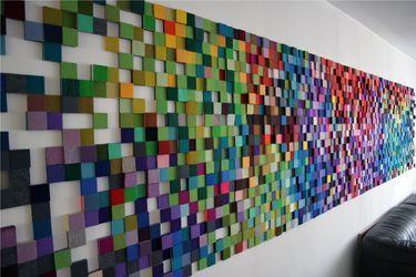 Фото 3 - Декорирование стен деревянной 3-D мозаикой, деревянные панно.
