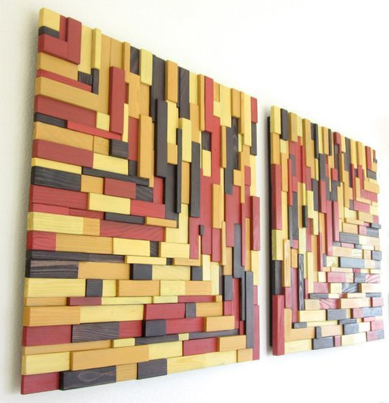 Фото 5 - Декоративная отделка стен 3-D мозаикой, деревянными плитами.
