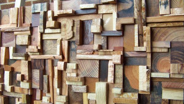 Фото 8 - Декоративная отделка стен 3-D мозаикой, деревянными плитами.