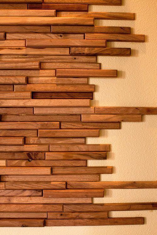 Фото 6 - Декоративная отделка стен 3-D мозаикой, деревянными плитами.