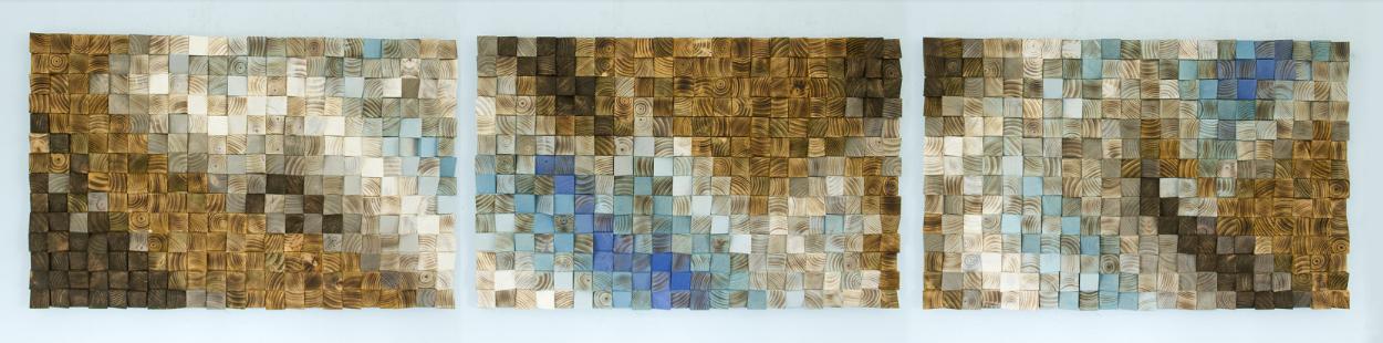 Фото 4 - Декоративная отделка стен 3-D мозаикой, деревянными плитами.