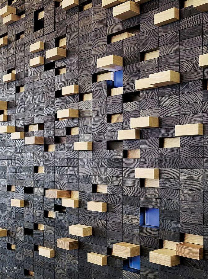 Фото 7 - Украшение стен деревянными панелями 3-D мозаикой, изголовье.