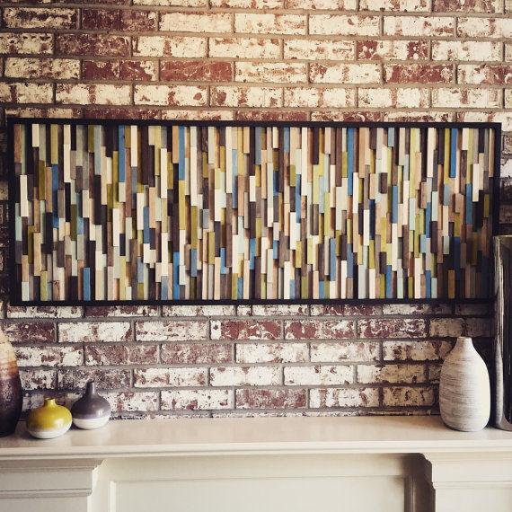 Фото 6 - Украшение стен деревянными панелями 3-D мозаикой, изголовье.